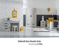Aanbiedingen Kidsmill sem nautic grijs nachtkastje - Kidsmill - Geldig van 20/07/2021 tot 16/08/2021 bij Babypark