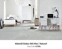 Aanbiedingen Kidsmill sixties wit mat - naturel kast 3-drs - Kidsmill - Geldig van 20/07/2021 tot 16/08/2021 bij Babypark