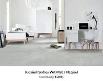 Aanbiedingen Kidsmill sixties wit mat - naturel nachtkastje - Kidsmill - Geldig van 20/07/2021 tot 16/08/2021 bij Babypark