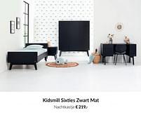 Aanbiedingen Kidsmill sixties zwart mat nachtkastje - Kidsmill - Geldig van 20/07/2021 tot 16/08/2021 bij Babypark