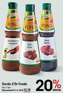 Aanbiedingen Garde d'or fonds rund - Knorr - Geldig van 22/07/2021 tot 09/08/2021 bij Sligro