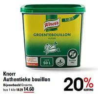 Aanbiedingen Knorr authentieke bouillon groente - Knorr - Geldig van 22/07/2021 tot 09/08/2021 bij Sligro