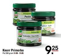 Aanbiedingen Knorr primerba - Knorr - Geldig van 22/07/2021 tot 09/08/2021 bij Sligro