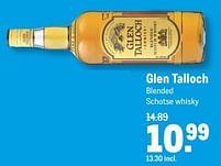 Aanbiedingen Glen talloch blended schotse whisky - Glen Talloch - Geldig van 21/07/2021 tot 03/08/2021 bij Makro