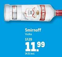 Aanbiedingen Smirnoff vodka - Smirnoff - Geldig van 21/07/2021 tot 03/08/2021 bij Makro