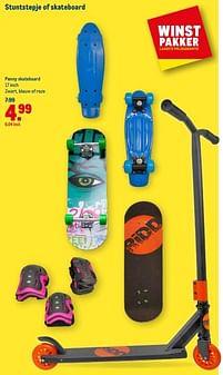 Aanbiedingen Penny skateboard zwart, blauw of roze - Huismerk - Makro - Geldig van 21/07/2021 tot 03/08/2021 bij Makro