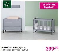 Aanbiedingen Babykamer dayley grijs - Huismerk - Baby & Tiener Megastore - Geldig van 01/08/2021 tot 07/08/2021 bij Baby & Tiener Megastore
