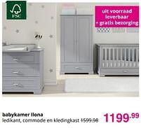 Aanbiedingen Babykamer ilona - Huismerk - Baby & Tiener Megastore - Geldig van 01/08/2021 tot 07/08/2021 bij Baby & Tiener Megastore