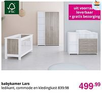 Aanbiedingen Babykamer lars - Huismerk - Baby & Tiener Megastore - Geldig van 01/08/2021 tot 07/08/2021 bij Baby & Tiener Megastore