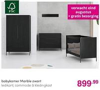 Aanbiedingen Babykamer marble zwart - Huismerk - Baby & Tiener Megastore - Geldig van 01/08/2021 tot 07/08/2021 bij Baby & Tiener Megastore
