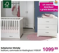 Aanbiedingen Babykamer melody - Huismerk - Baby & Tiener Megastore - Geldig van 01/08/2021 tot 07/08/2021 bij Baby & Tiener Megastore
