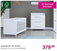 Aanbiedingen Babykamer stockholm - Huismerk - Baby & Tiener Megastore - Geldig van 01/08/2021 tot 07/08/2021 bij Baby & Tiener Megastore