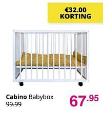 Aanbiedingen Cabino babybox - Cabino - Geldig van 01/08/2021 tot 07/08/2021 bij Baby & Tiener Megastore
