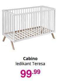 Aanbiedingen Cabino ledikant teresa - Cabino - Geldig van 01/08/2021 tot 07/08/2021 bij Baby & Tiener Megastore