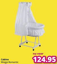 Aanbiedingen Cabino wiegje romantic - Cabino - Geldig van 01/08/2021 tot 07/08/2021 bij Baby & Tiener Megastore