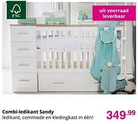 Aanbiedingen Combi-ledikant sandy - Huismerk - Baby & Tiener Megastore - Geldig van 01/08/2021 tot 07/08/2021 bij Baby & Tiener Megastore