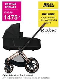Aanbiedingen Cybex priam plus stardust black 3-in-1 - Cybex - Geldig van 01/08/2021 tot 07/08/2021 bij Baby & Tiener Megastore