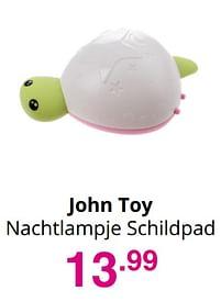 Aanbiedingen John toy nachtlampje schildpad - Johntoy - Geldig van 01/08/2021 tot 07/08/2021 bij Baby & Tiener Megastore
