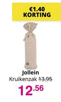 Aanbiedingen Jollein kruikenzak - Jollein - Geldig van 01/08/2021 tot 07/08/2021 bij Baby & Tiener Megastore