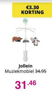 Aanbiedingen Jollein muziekmobiel - Jollein - Geldig van 01/08/2021 tot 07/08/2021 bij Baby & Tiener Megastore