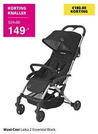 Aanbiedingen Maxi-cosi laika 2 essential black - Maxi-cosi - Geldig van 01/08/2021 tot 07/08/2021 bij Baby & Tiener Megastore