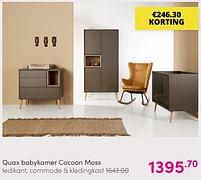 Aanbiedingen Quax babykamer cocoon moss - Quax - Geldig van 01/08/2021 tot 07/08/2021 bij Baby & Tiener Megastore