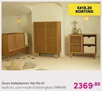 Aanbiedingen Quax babykamer hai no ki - Quax - Geldig van 01/08/2021 tot 07/08/2021 bij Baby & Tiener Megastore