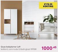 Aanbiedingen Quax babykamer loft - Quax - Geldig van 01/08/2021 tot 07/08/2021 bij Baby & Tiener Megastore