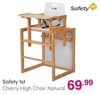 Aanbiedingen Safety 1st cherry high chair natural - Safety 1st - Geldig van 01/08/2021 tot 07/08/2021 bij Baby & Tiener Megastore
