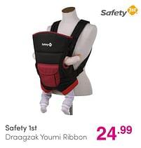 Aanbiedingen Safety 1st draagzak youmi ribbon - Safety 1st - Geldig van 01/08/2021 tot 07/08/2021 bij Baby & Tiener Megastore