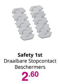 Aanbiedingen Safety 1st draaibare stopcontact beschermers - Safety 1st - Geldig van 01/08/2021 tot 07/08/2021 bij Baby & Tiener Megastore