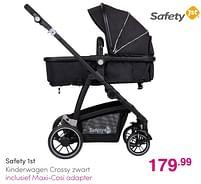 Aanbiedingen Safety 1st kinderwagen crossy zwart - Safety 1st - Geldig van 01/08/2021 tot 07/08/2021 bij Baby & Tiener Megastore