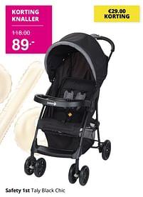 Aanbiedingen Safety 1st taly black chic - Safety 1st - Geldig van 01/08/2021 tot 07/08/2021 bij Baby & Tiener Megastore