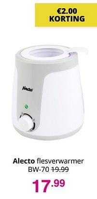 Aanbiedingen Alecto flesverwarmer bw-70 - Alecto - Geldig van 01/08/2021 tot 07/08/2021 bij Baby & Tiener Megastore