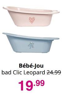 Aanbiedingen Bébé-jou bad clic leopard - Bebe-jou - Geldig van 01/08/2021 tot 07/08/2021 bij Baby & Tiener Megastore