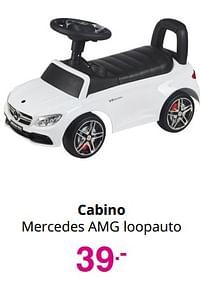 Aanbiedingen Cabino mercedes amg loopauto - Cabino - Geldig van 01/08/2021 tot 07/08/2021 bij Baby & Tiener Megastore