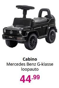 Aanbiedingen Cabino mercedes benz g-klasse loopauto - Cabino - Geldig van 01/08/2021 tot 07/08/2021 bij Baby & Tiener Megastore