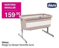 Aanbiedingen Chicco wiegje co-sleeper next2me sand - Chicco - Geldig van 01/08/2021 tot 07/08/2021 bij Baby & Tiener Megastore