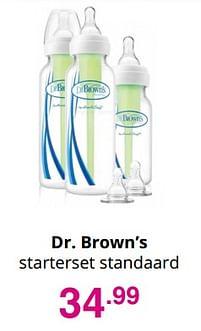 Aanbiedingen Dr. brown's starterset standaard - DrBrown's - Geldig van 01/08/2021 tot 07/08/2021 bij Baby & Tiener Megastore