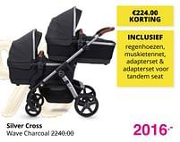 Aanbiedingen Silver cross wave charcoal - Silver Cross - Geldig van 01/08/2021 tot 07/08/2021 bij Baby & Tiener Megastore