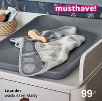 Aanbiedingen Leander waskussen matty - Leander - Geldig van 01/08/2021 tot 07/08/2021 bij Baby & Tiener Megastore