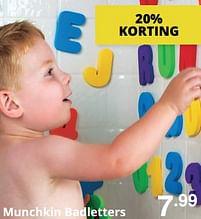 Aanbiedingen Munchkin badletters - Munchkin - Geldig van 01/08/2021 tot 07/08/2021 bij Baby & Tiener Megastore