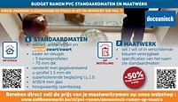 Aanbiedingen Budget ramen pvc standaardmaten en maatwerk -50% - Deceuninck - Geldig van 17/08/2021 tot 20/09/2021 bij Zelfbouwmarkt