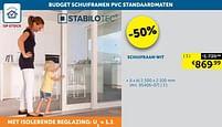 Aanbiedingen Schuifraam wit - Stabilotec - Geldig van 17/08/2021 tot 20/09/2021 bij Zelfbouwmarkt