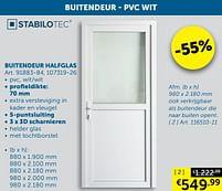Aanbiedingen Buitendeur halfglas - Stabilotec - Geldig van 17/08/2021 tot 20/09/2021 bij Zelfbouwmarkt