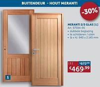Aanbiedingen Buitendeur - hout meranti 2-3 glas -  - Geldig van 17/08/2021 tot 20/09/2021 bij Zelfbouwmarkt
