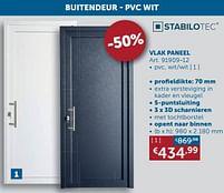 Aanbiedingen Buitendeur - pvc wit vlak paneel - Stabilotec - Geldig van 17/08/2021 tot 20/09/2021 bij Zelfbouwmarkt