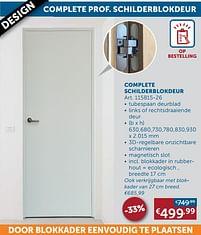 Aanbiedingen Complete schilderblokdeur -  - Geldig van 17/08/2021 tot 20/09/2021 bij Zelfbouwmarkt