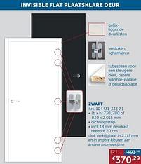 Aanbiedingen Invisible flat plaatsklare deur zwart -  - Geldig van 17/08/2021 tot 20/09/2021 bij Zelfbouwmarkt
