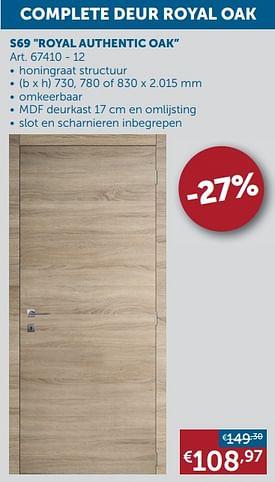 Aanbiedingen S69 royal authentic oak - Group Thys - Geldig van 17/08/2021 tot 20/09/2021 bij Zelfbouwmarkt
